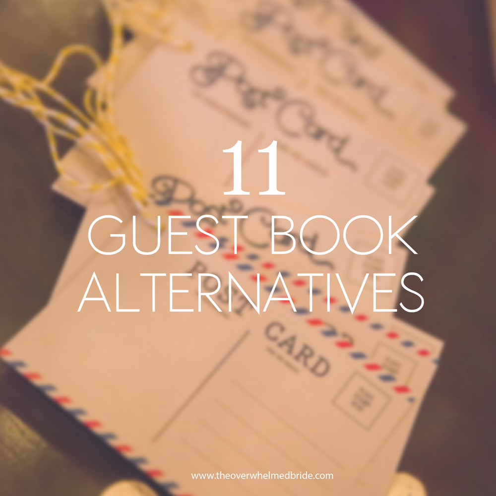 Alternative Wedding Guest Book Ideas: Sunday's Most Loved // Guest Book Alternative Ideas