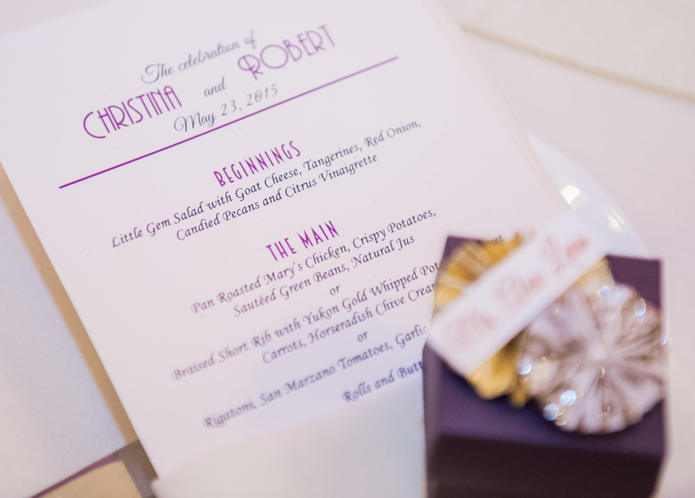 musical themed wedding menu cards