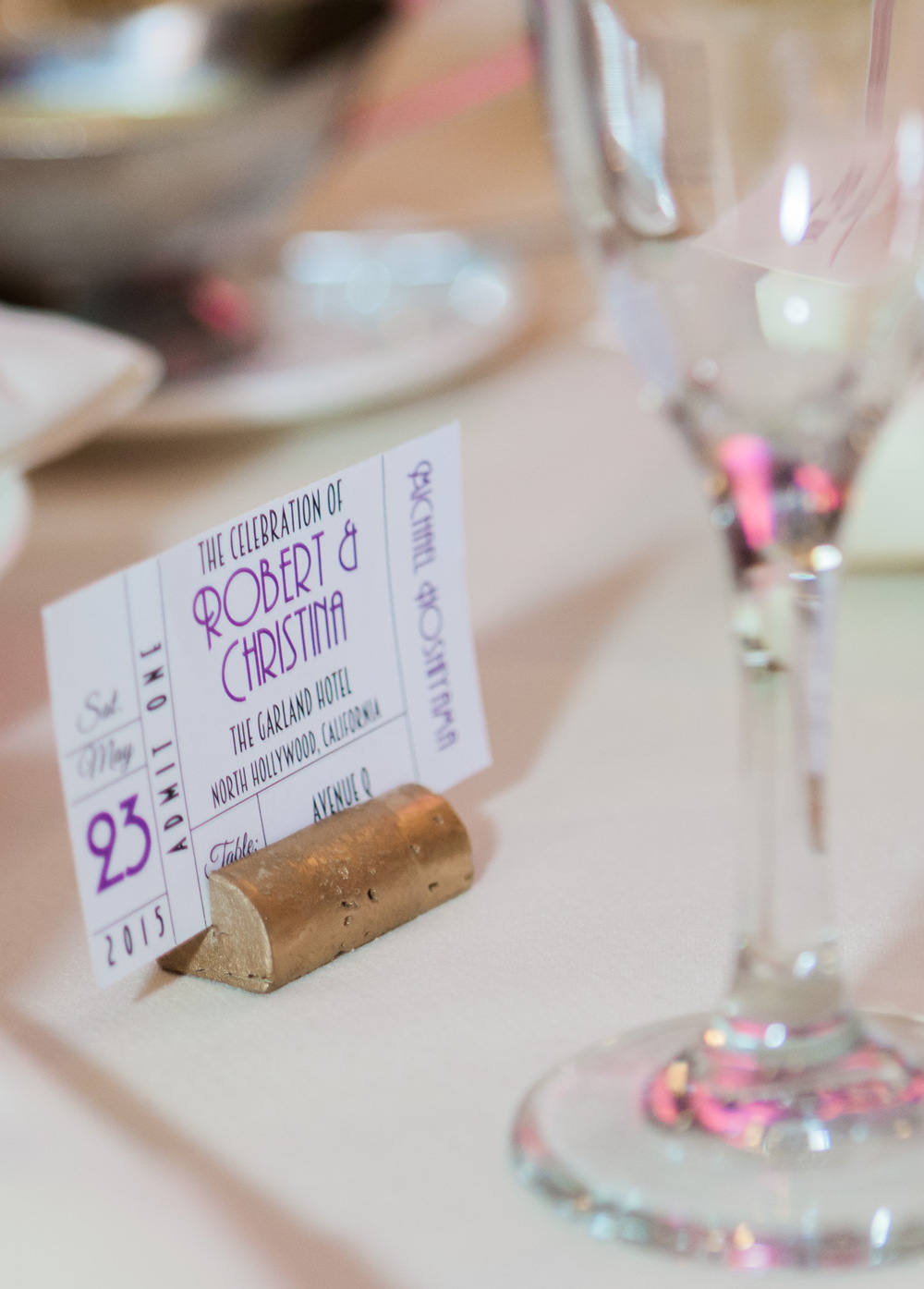 musical themed wedding seating placecards