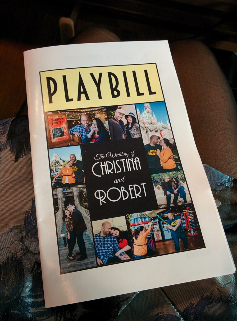 playbill themed wedding programs