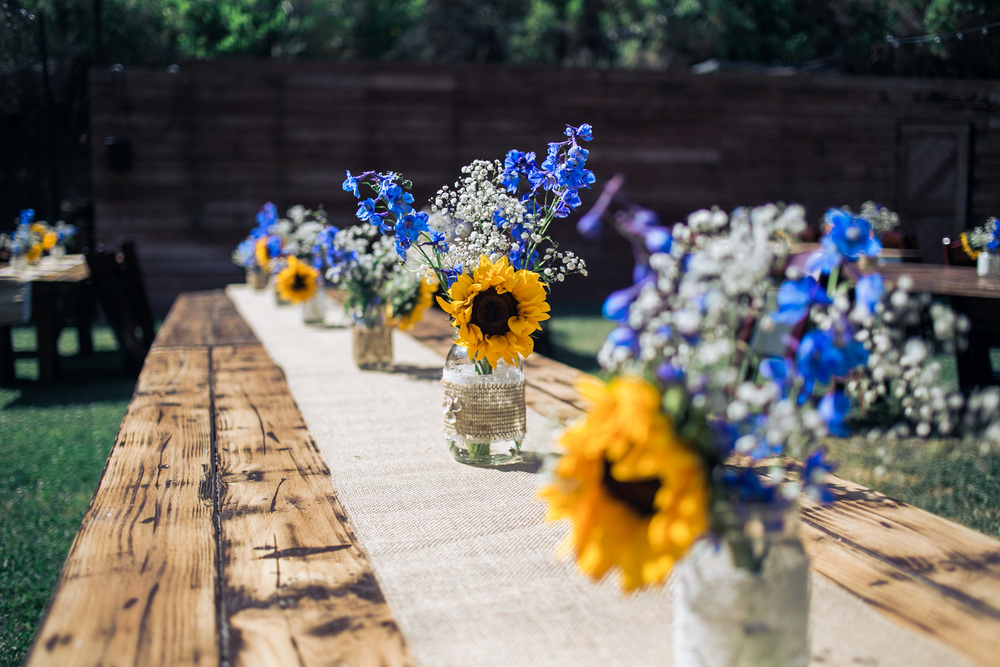 rustic wedding decor ideas sunflower