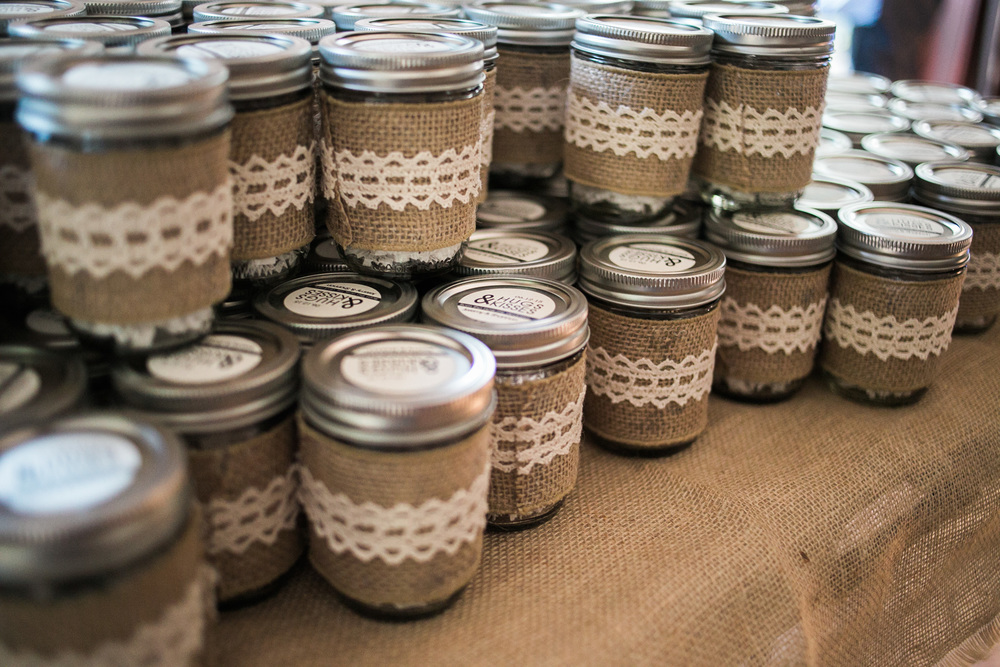 rustic hershey kisses burlap and lace wedding favors