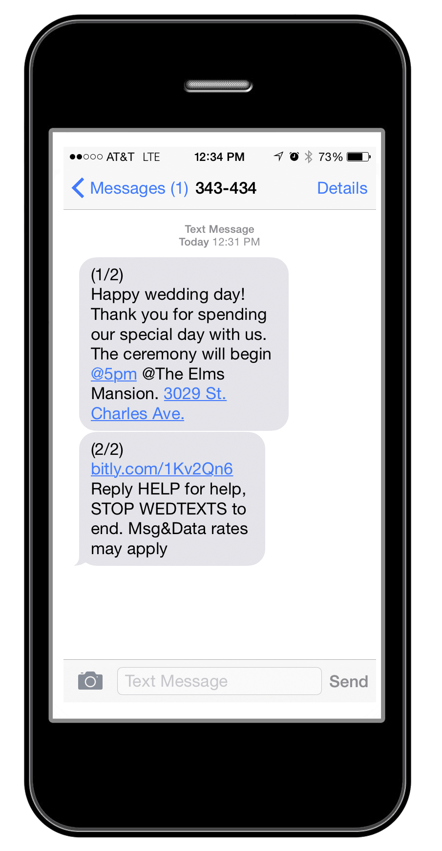 wedtexts - reducing wedding planning stress