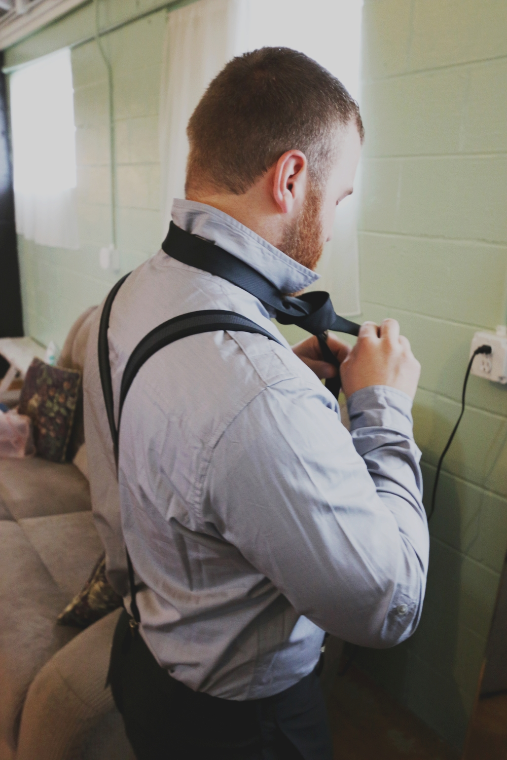 rustic groom attire