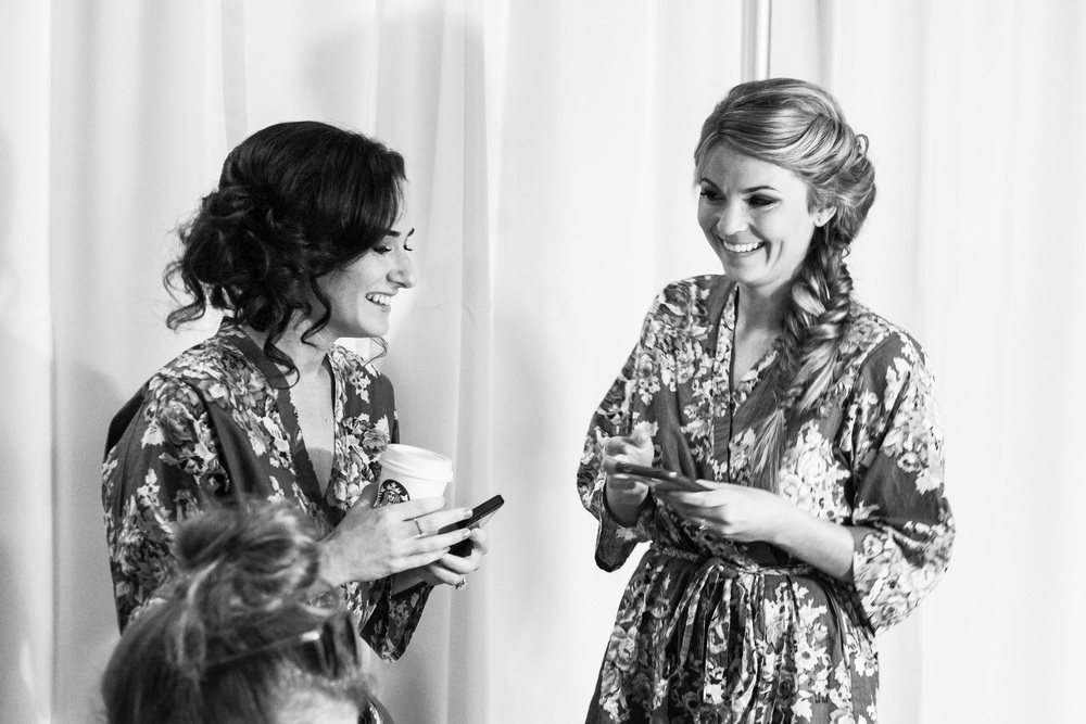 vintage inspired bridesmaid getting ready robes