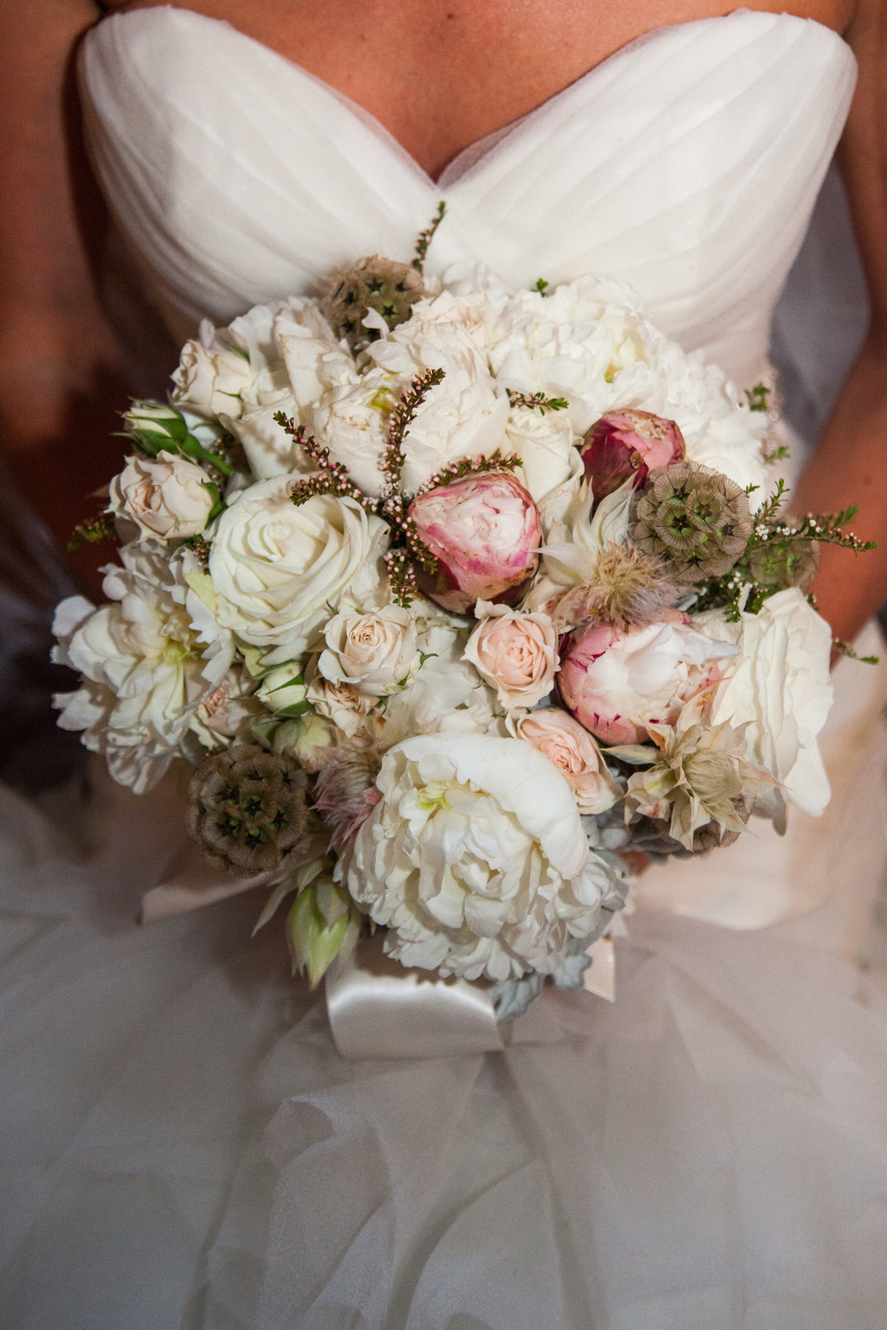 vintage inspired wedding bridal bouquet