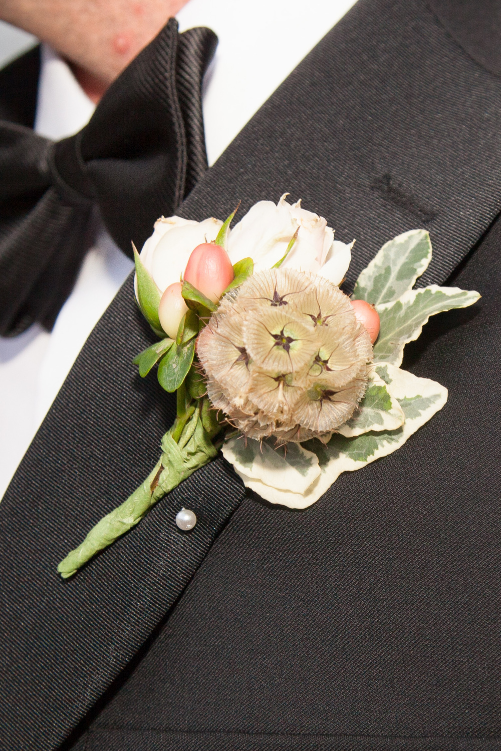 vintage inspired wedding boutonniere