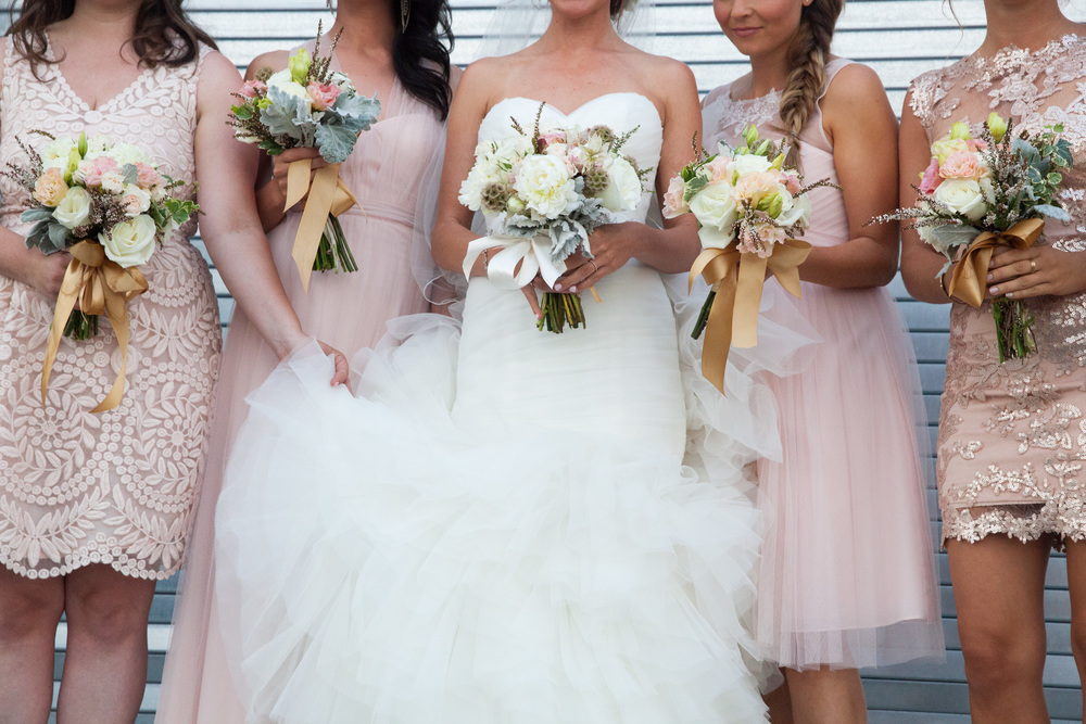 vintage inspired wedding bridesmaids