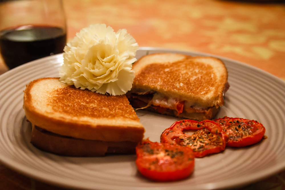 Roasted Tomato + Cheese Sandwiches recipe