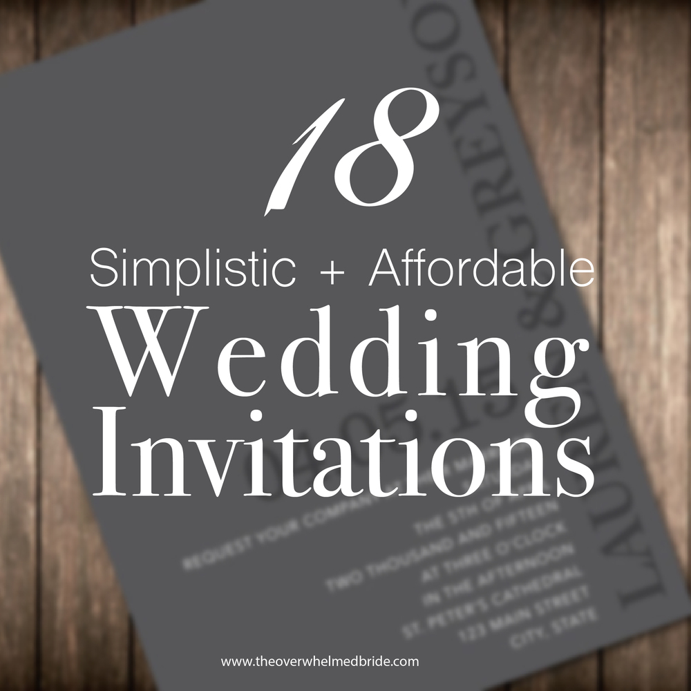 simplistic and afforable wedding invitations