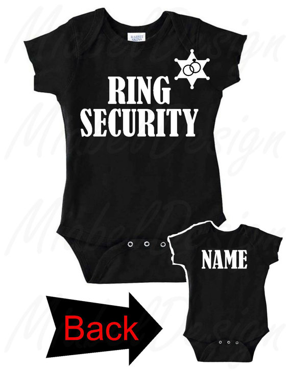 1 Ring Security Baby Creeper, Ring Bearer Baby Creeper, Custom Onesie, Ring Bearer Onesie, Personalized Onesie, Ring Bearer, Ring Security