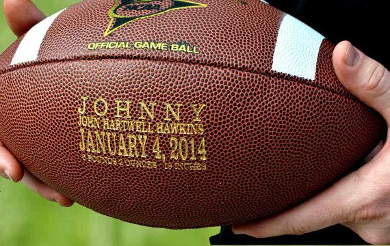 Personalized Football, Engraved Ring Bearer, Groomsmen and Best Man Gift, Wedding Keepsake