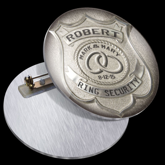 Ringer Bearer Gift PN1009 Ring Security Badge Pin for Ring Bearer at Wedding - Ring Bearer Gift