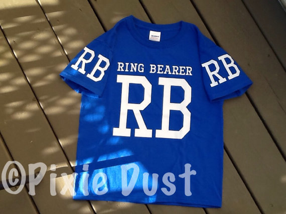 Ring Bearer T-shirt. Weddings, wedding attire, ring bearer attire, wedding rehersal attire, wedding rehersals.