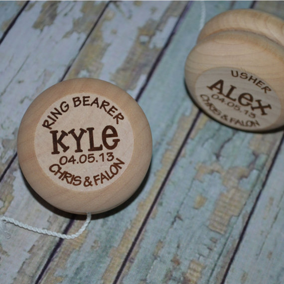 Yo Yo Ring Bearer Wedding Attendant Gift Personalized YoYo, Custom Yo-Yo