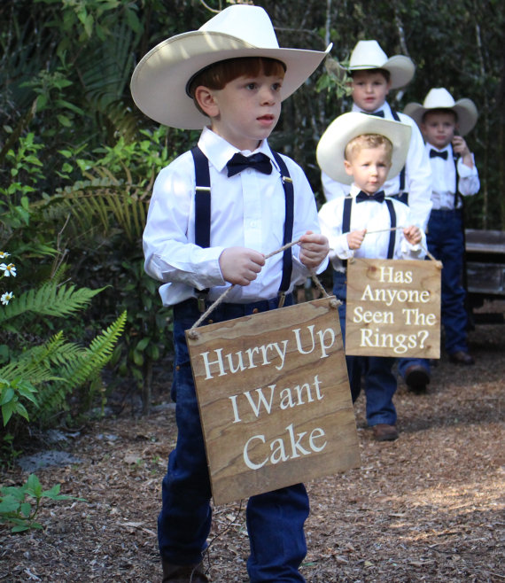 Ring Bearer Signs/Flower Girl Signs/Cute Wedding Entrance Or Exit/Wedding Ceremony Prop