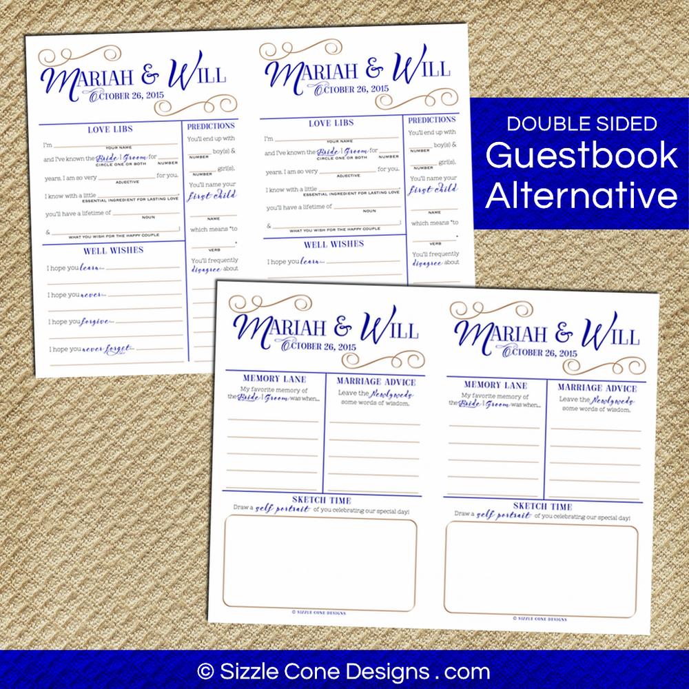 guest book alternative - custom wedding mad libs