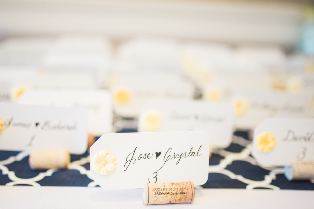 soft yellow wine cork wedding seating cards // traditional persian wedding ceremony