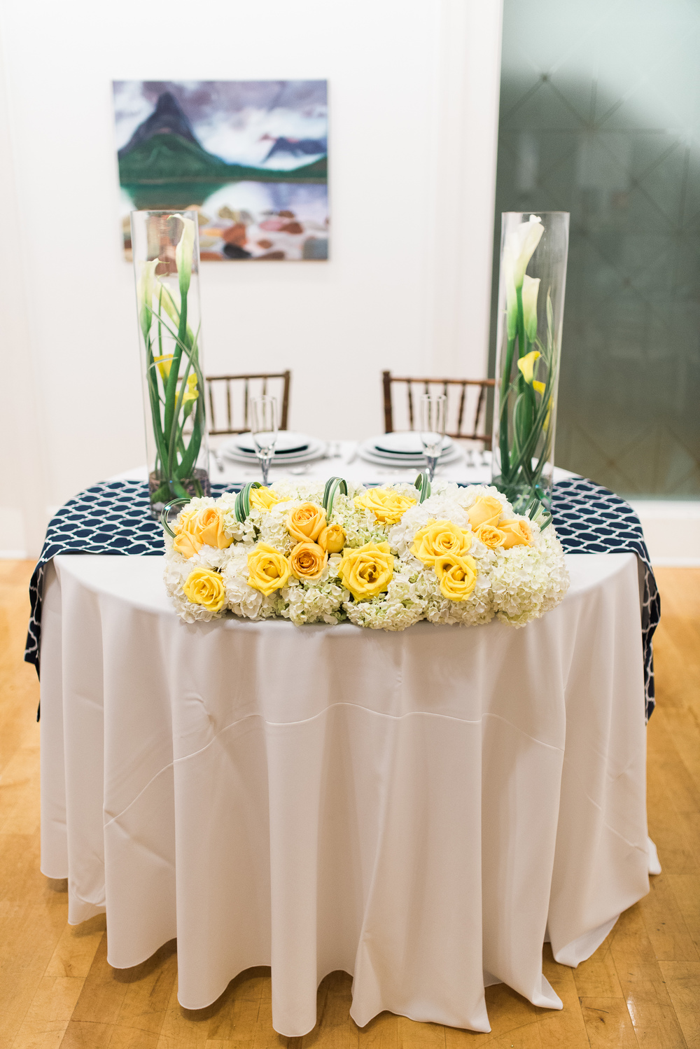 yellow and purple sweetheart table // traditional persian wedding ceremony