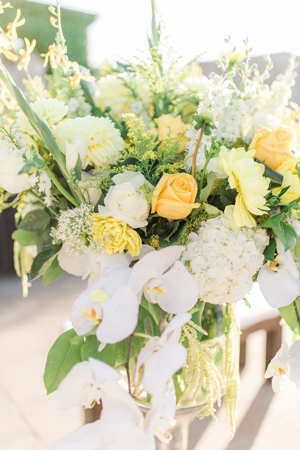 soft yellow wedding floral centerpieces // traditional persian wedding ceremony