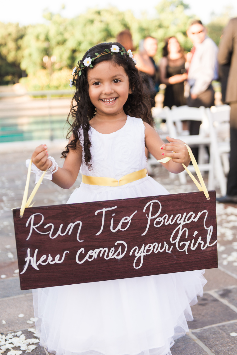 flower girl wooden signs // traditional persian wedding ceremony
