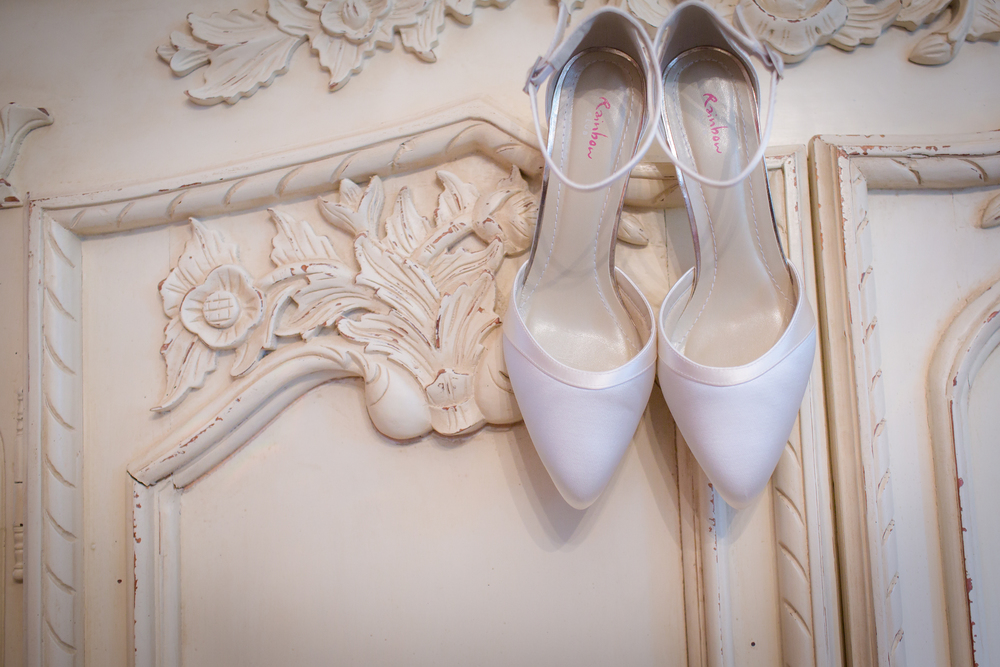 white wedding shoes // Rocksalt Photography