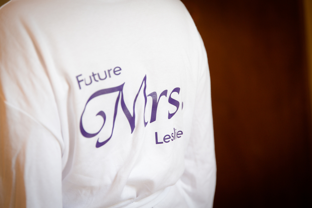 future mrs bride getting ready robes // white wedding shoes // Rocksalt Photography