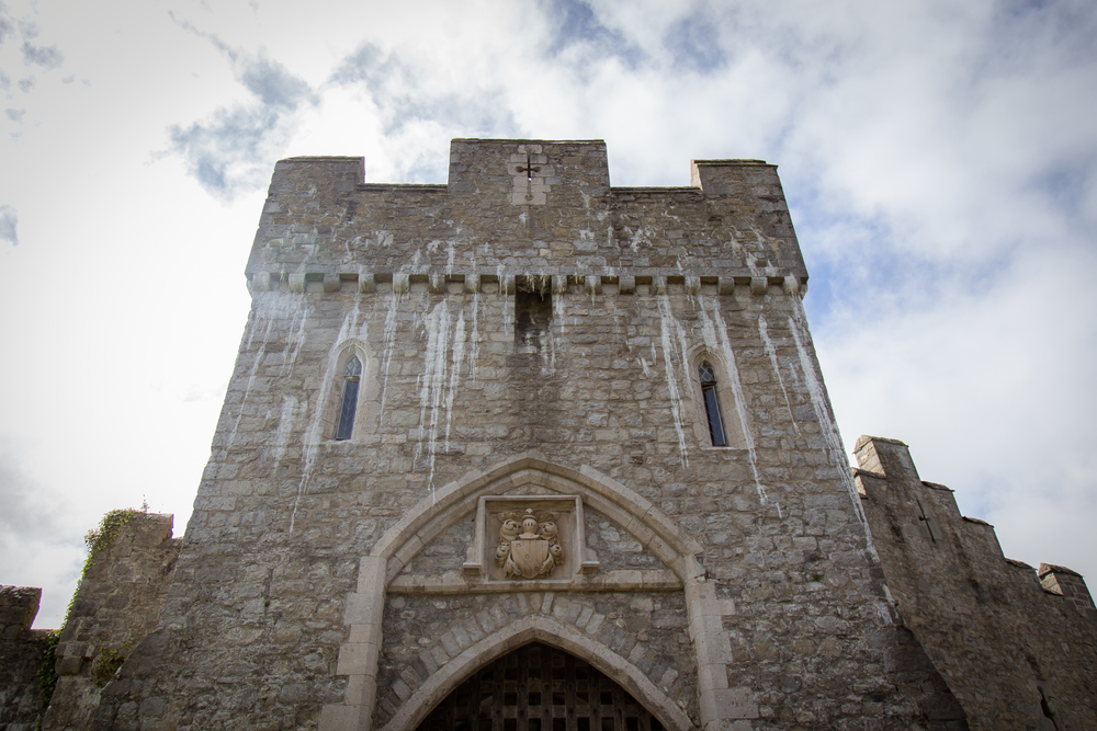 castle wedding venue Wales UK // white wedding shoes // Rocksalt Photography