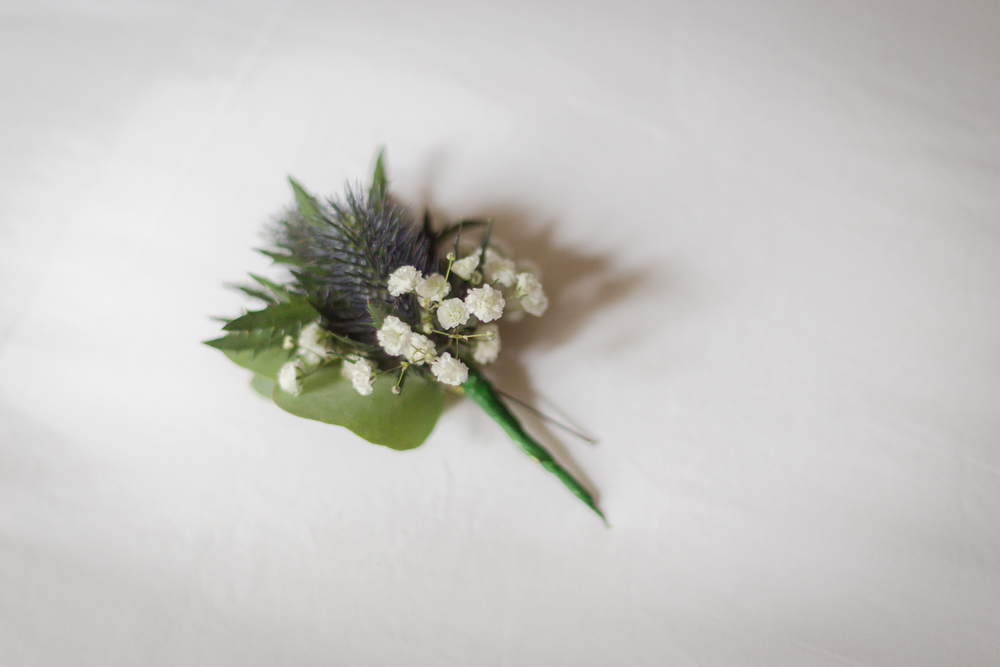 rustic boutonniere // UK castle wedding