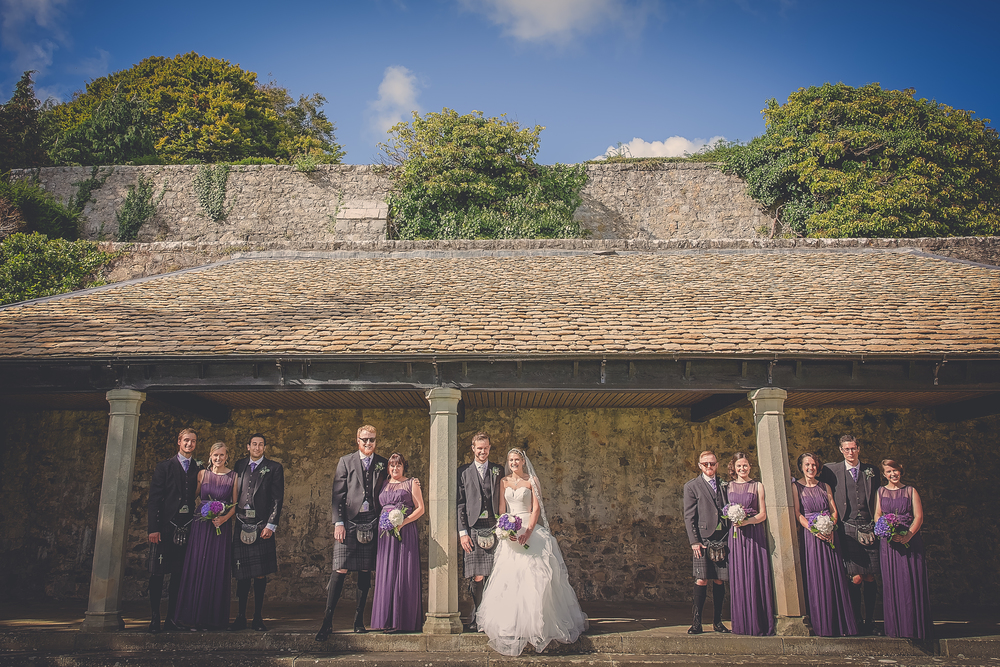 best bridal party wedding photos //  castle wedding venue Wales UK // Rocksalt Photography