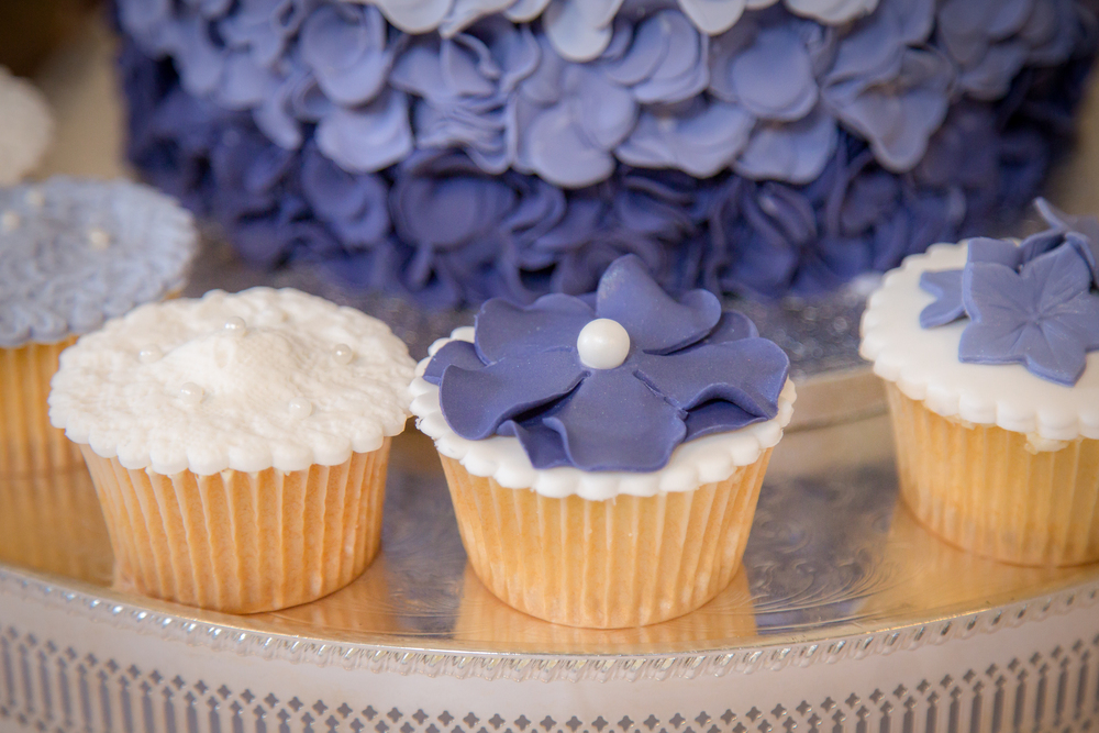 wedding dessert buffet cupcakes //  castle wedding venue Wales UK // Rocksalt Photography
