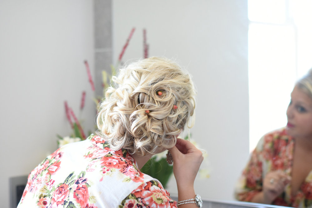 bridal hairstyle up do // macy marie photography wedding