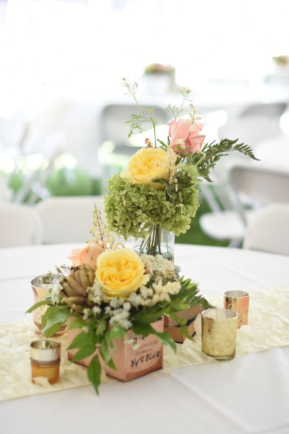 vintage book wedding reception centerpieces // macy marie photography wedding