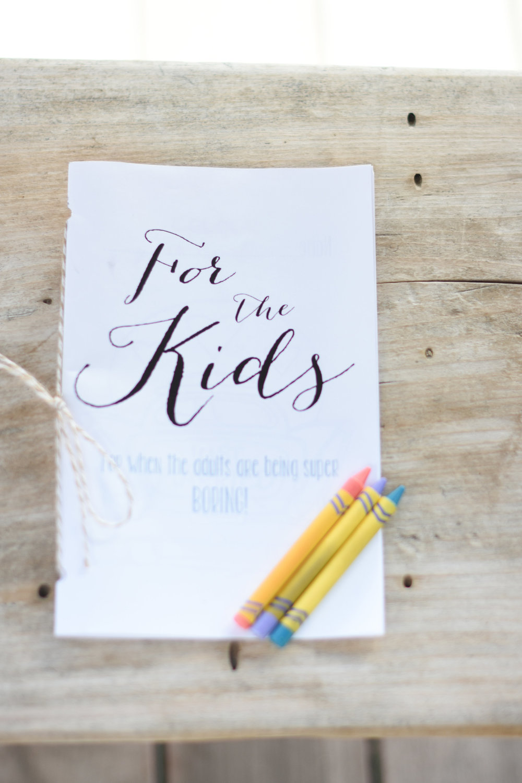 kids wedding activities // macy marie photography wedding