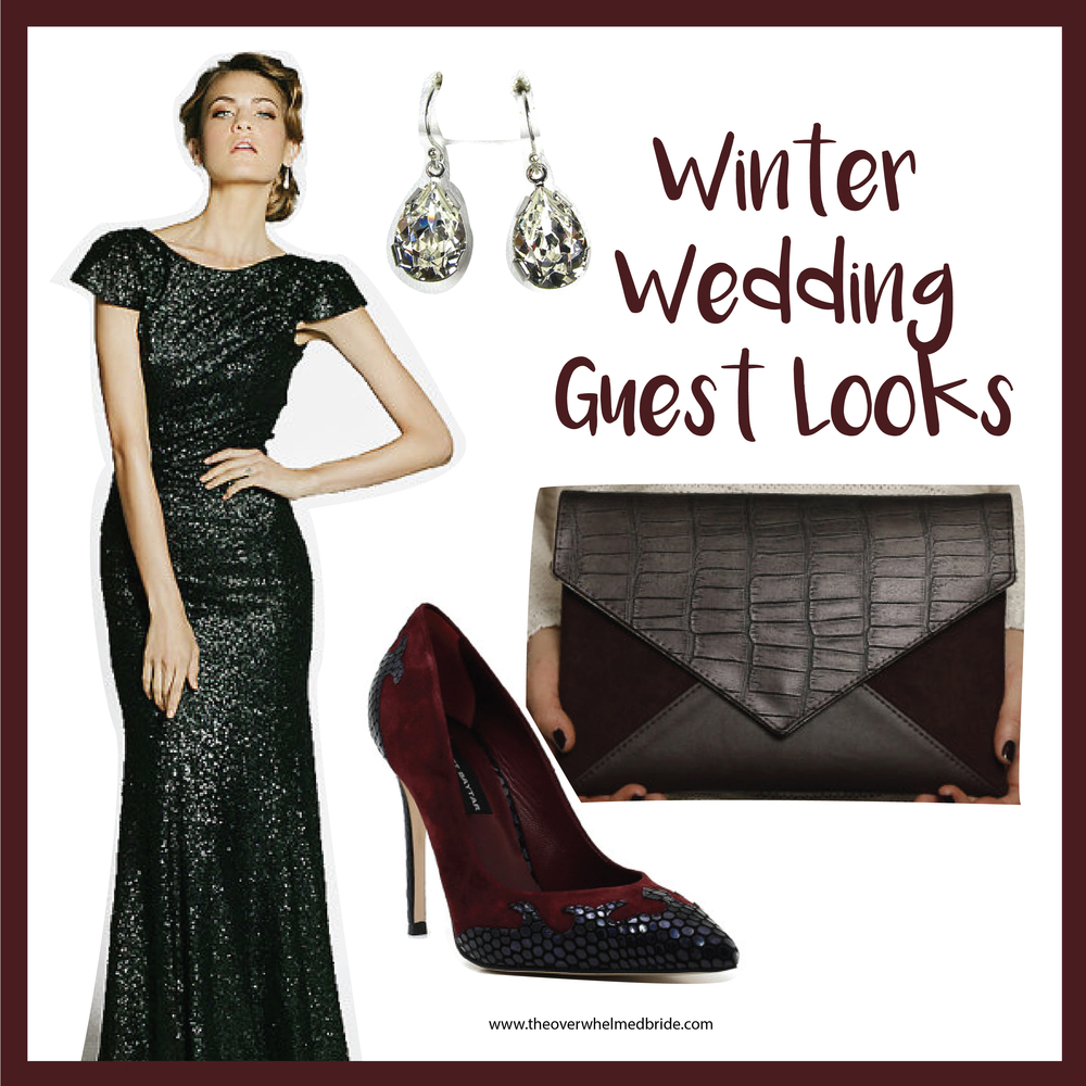 winter wedding guest trends and attire - holiday party dresses