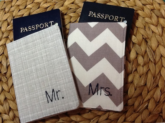 mr and mrs passport holders covers honeymoon must haves