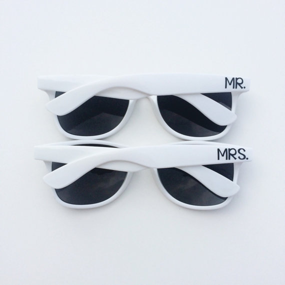 white mr and mrs sunglasses honeymoon must haves