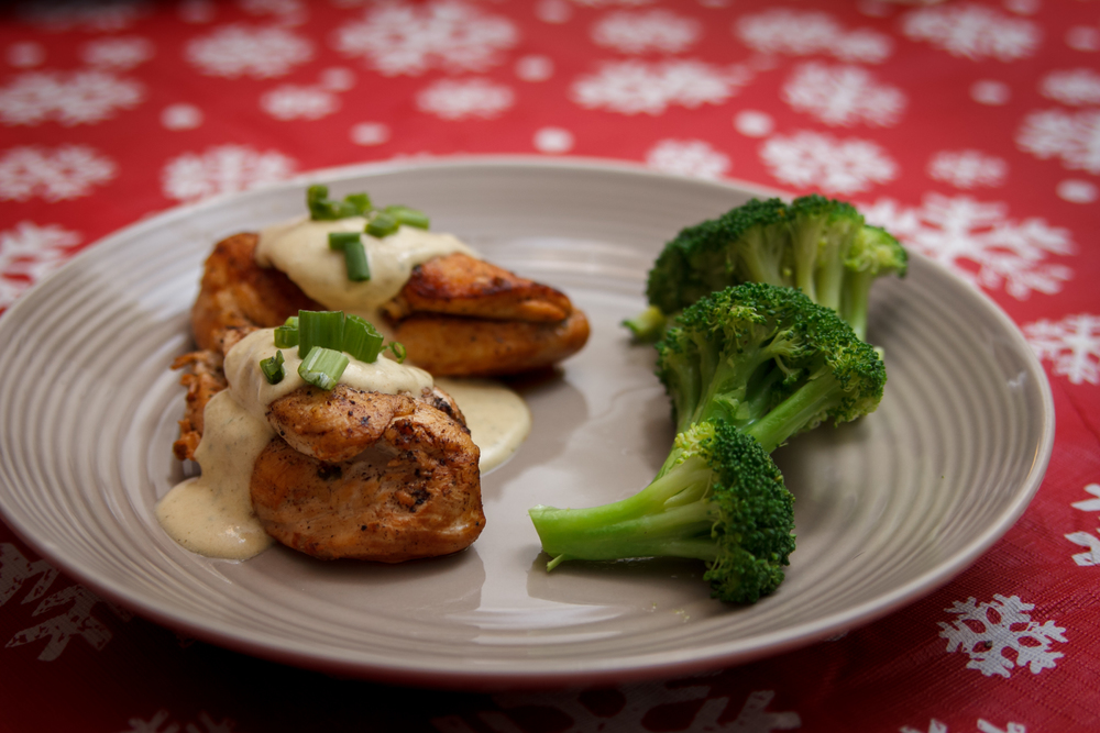 date night ideas // dijon chicken holiday recipe