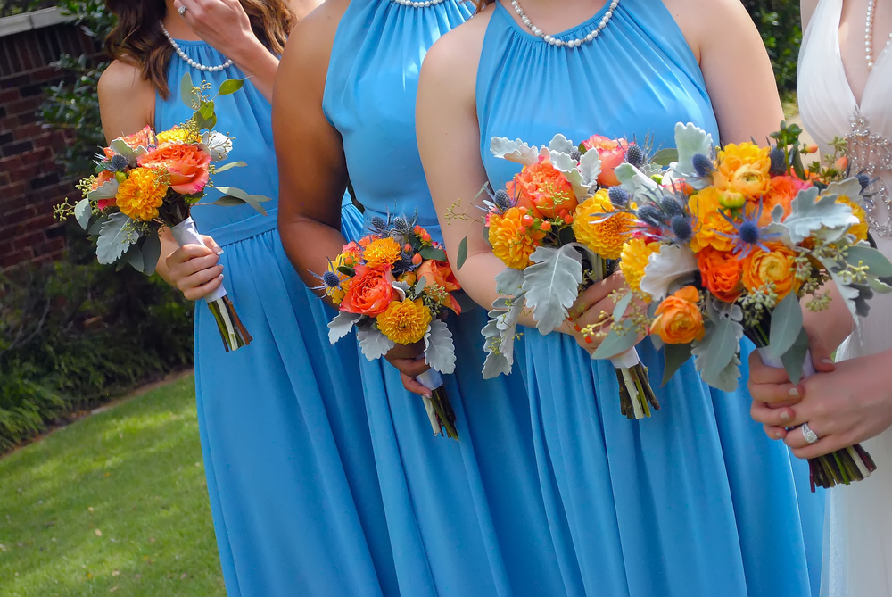 guthrie oklahoma wedding venue - dominion house -light blue bridesmaid dresses