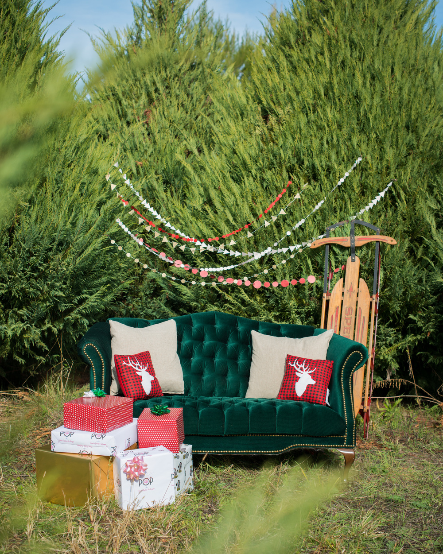 holiday themed engagement photo ideas
