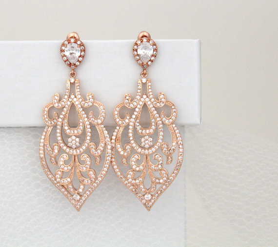 bridal statement earrings