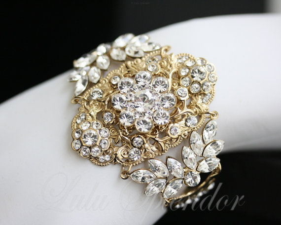 bridal statement bracelet