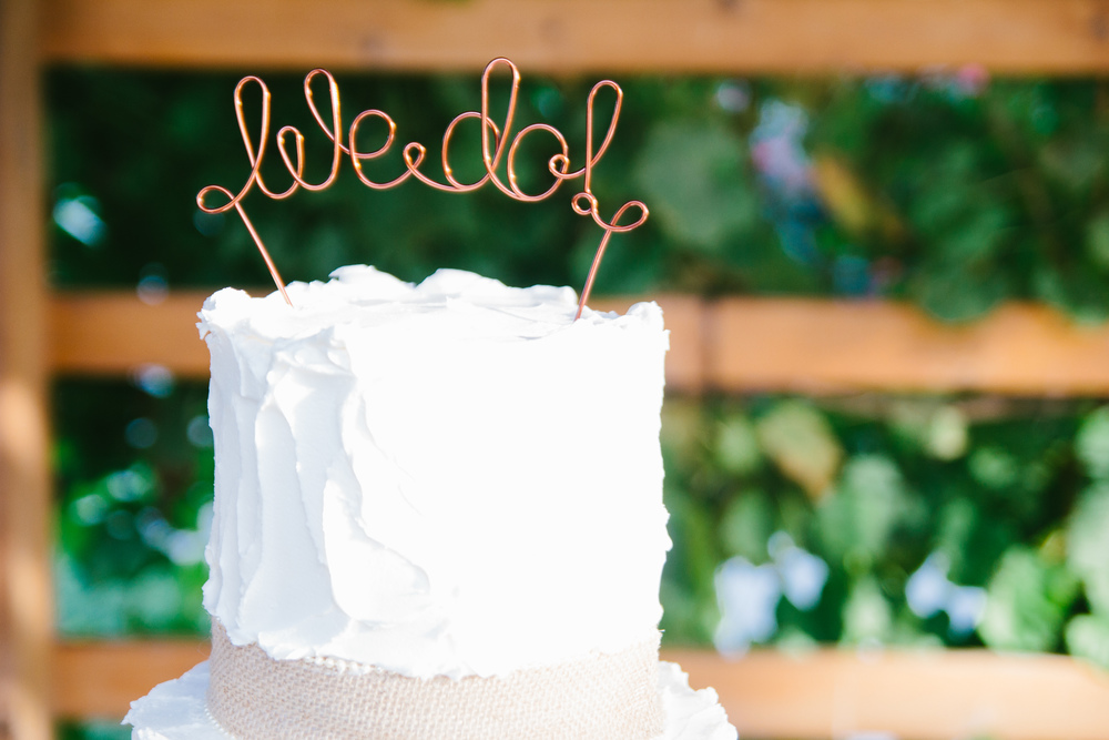 rustic wedding cake topper - rustic intimate oklahoma wedding at Darlington Chapel