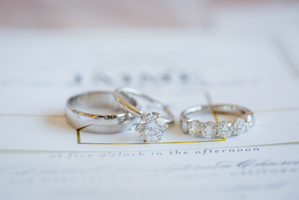 silver round solitaire engagement ring - A Diamond Hotel Penthouse Wedding by Katelyn Owens Photography
