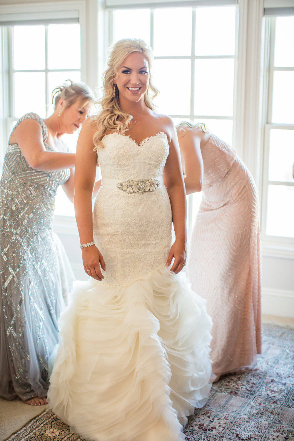 lace bridal gown - A Chico Event Center Penthouse Wedding by Katelyn Owens Photography