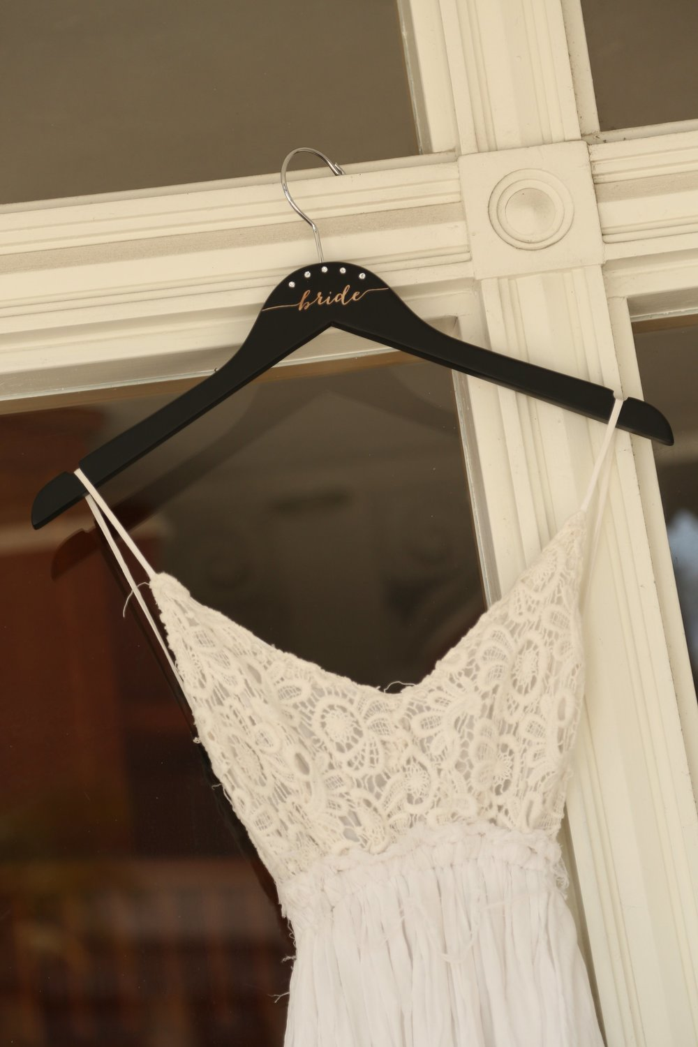 black personalized bridesmaid hangers by black label decor