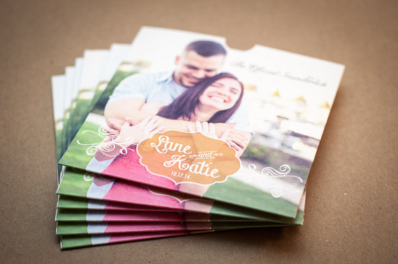 CD sleeve, Custom, DVD sleeve, wedding favour, wedding gift, wedding Cd case, Wedding CD