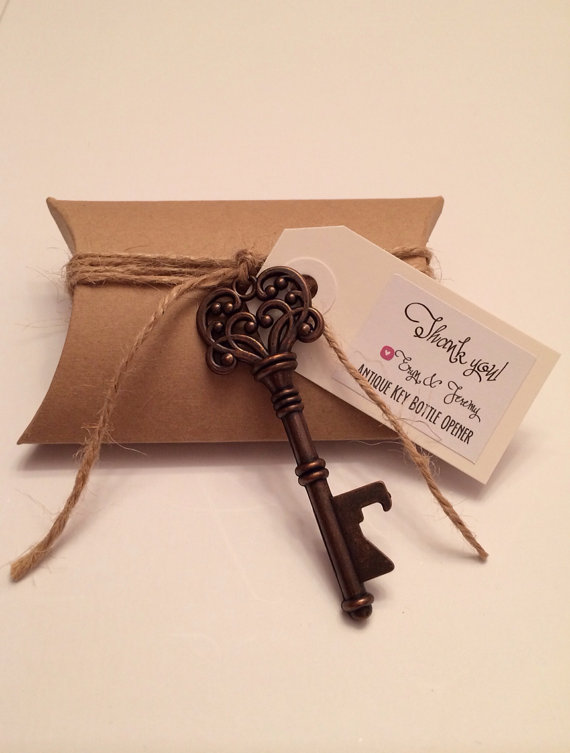 wedding favor ideas - 1 Vintage Key Bottle Opener - Antique Key Beer Opener - Skeleton Key Bottle Opener - Bottle Opener Wedding Favor