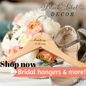 best etsy wedding shops // black label decor