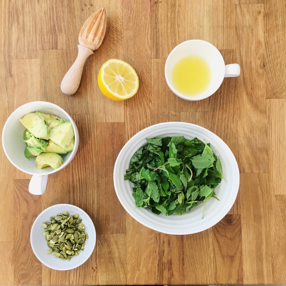 healthy bridal recipe // green goddess dressing